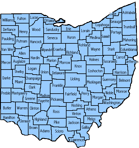 Lancaster OH Bail Bonds Map
